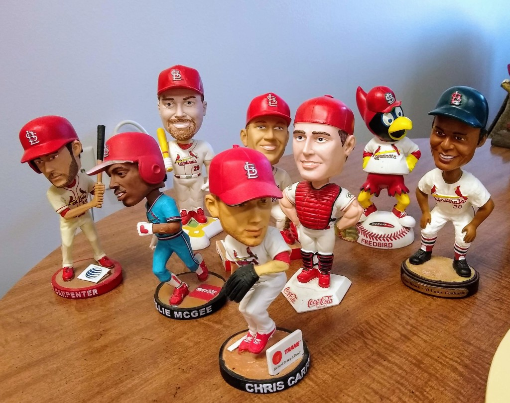 Collection of St. Louis Cardinals Bobbleheads