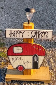 Happy Campers sign.
