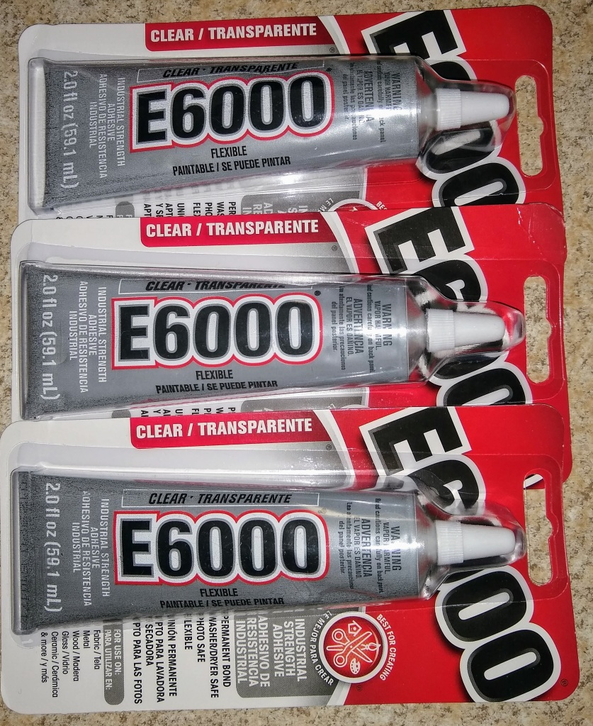 3 packages of E6000 glue