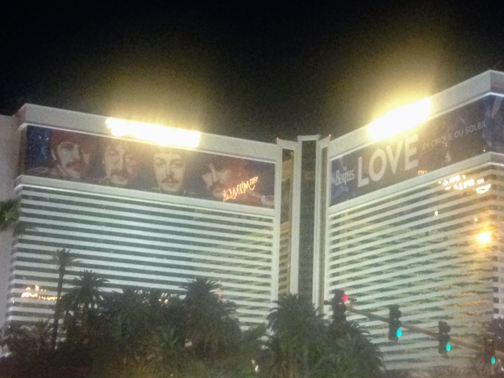 Mirage hotel with Love sign on the top.