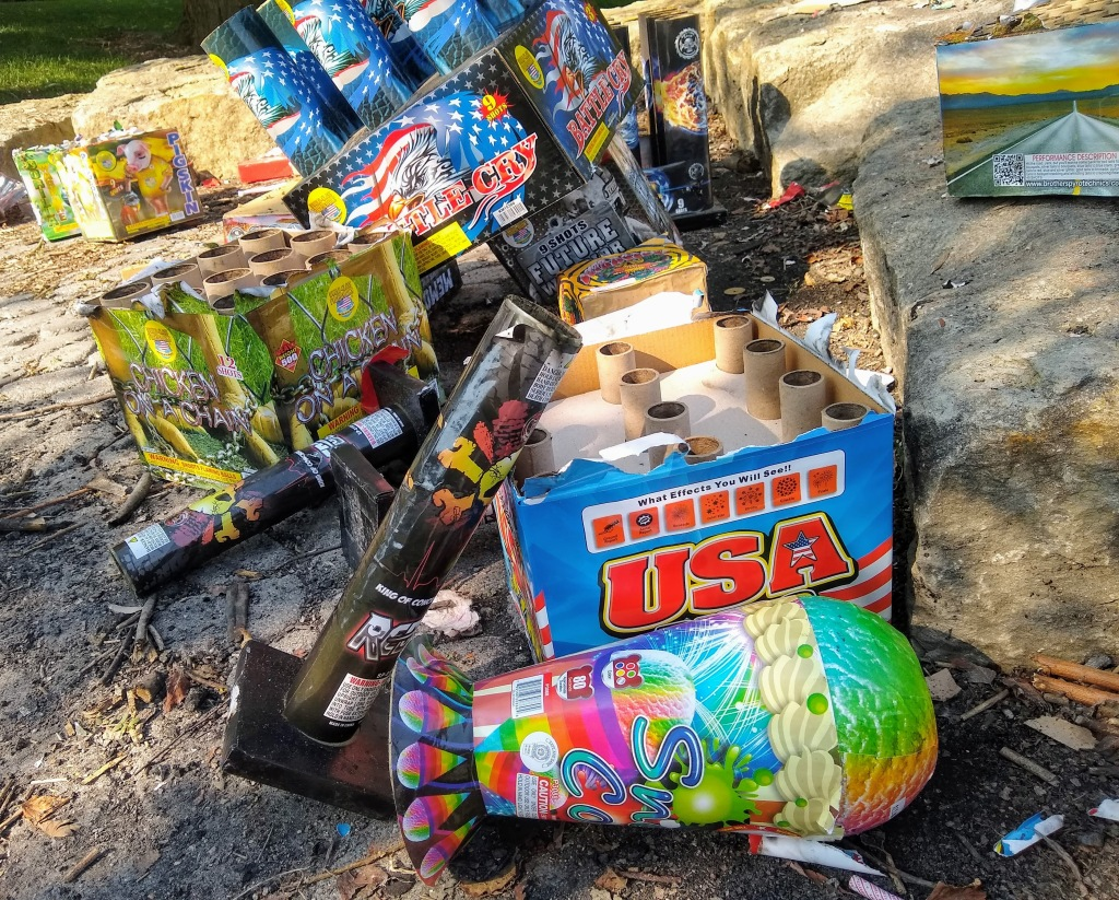 Pile of fireworks trash on July 5.