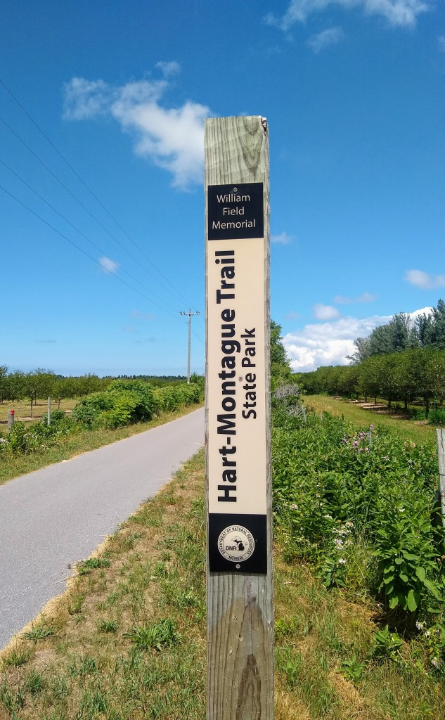Sign for Hart-Montague trail.