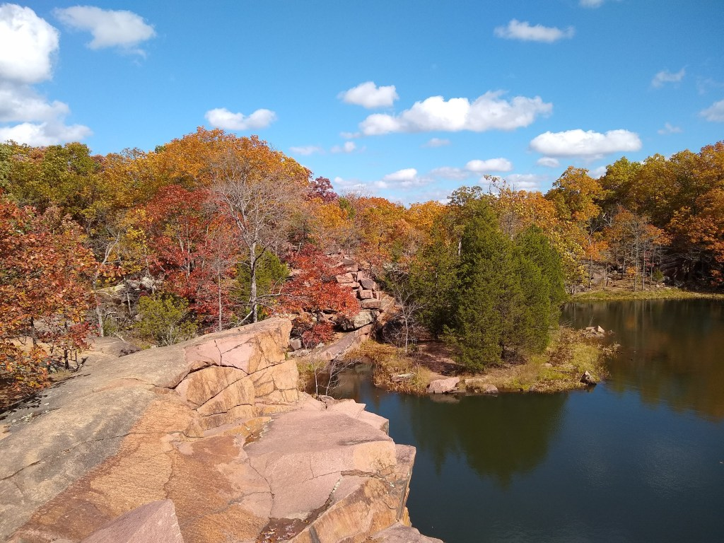 Rock quarry with water at Elephant Rocks State Park
