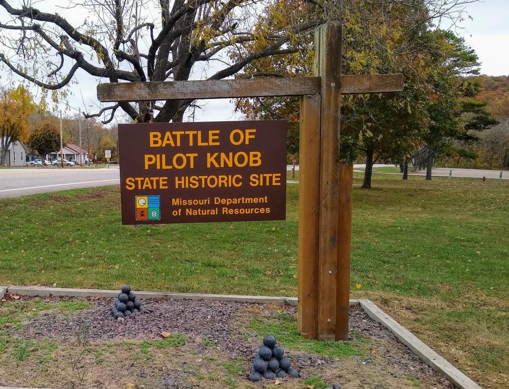 Battle of Pilot Knob sign