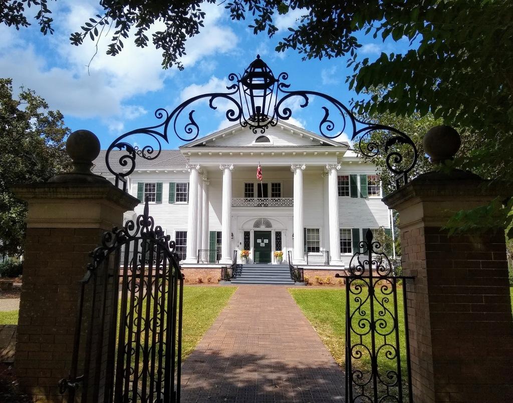 Large white mansion on Laurel Historic Walking tour