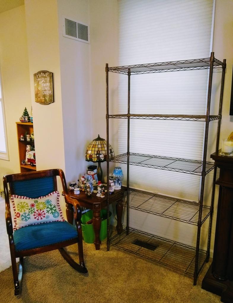Shelf After.  Flat Burnished Amber.