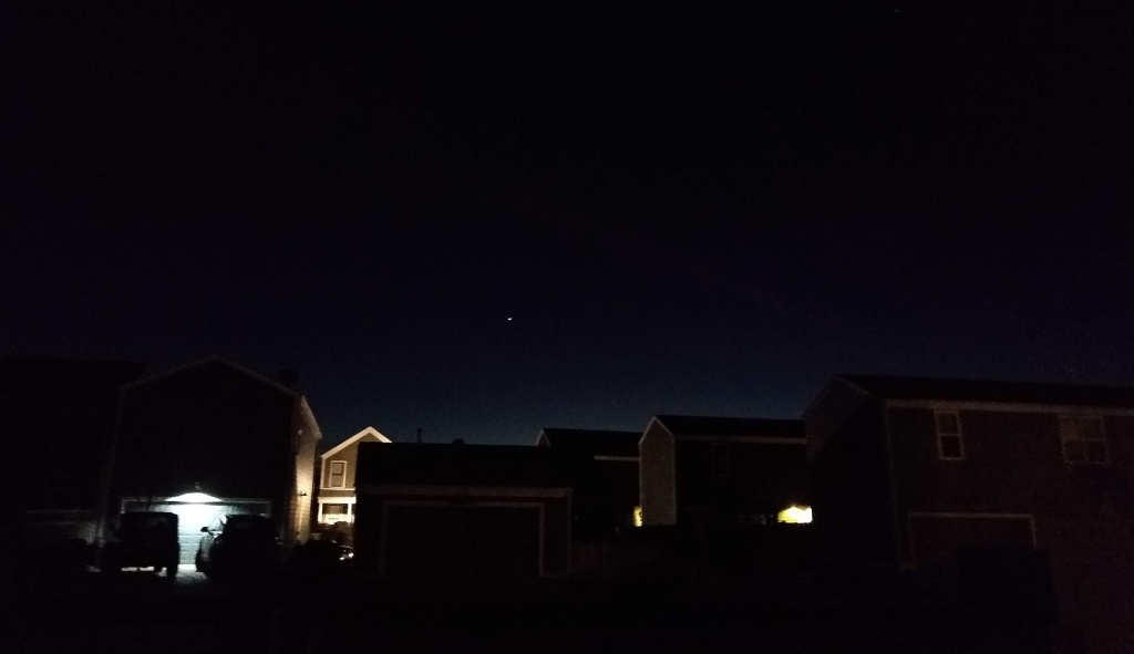Night sky with conjunction