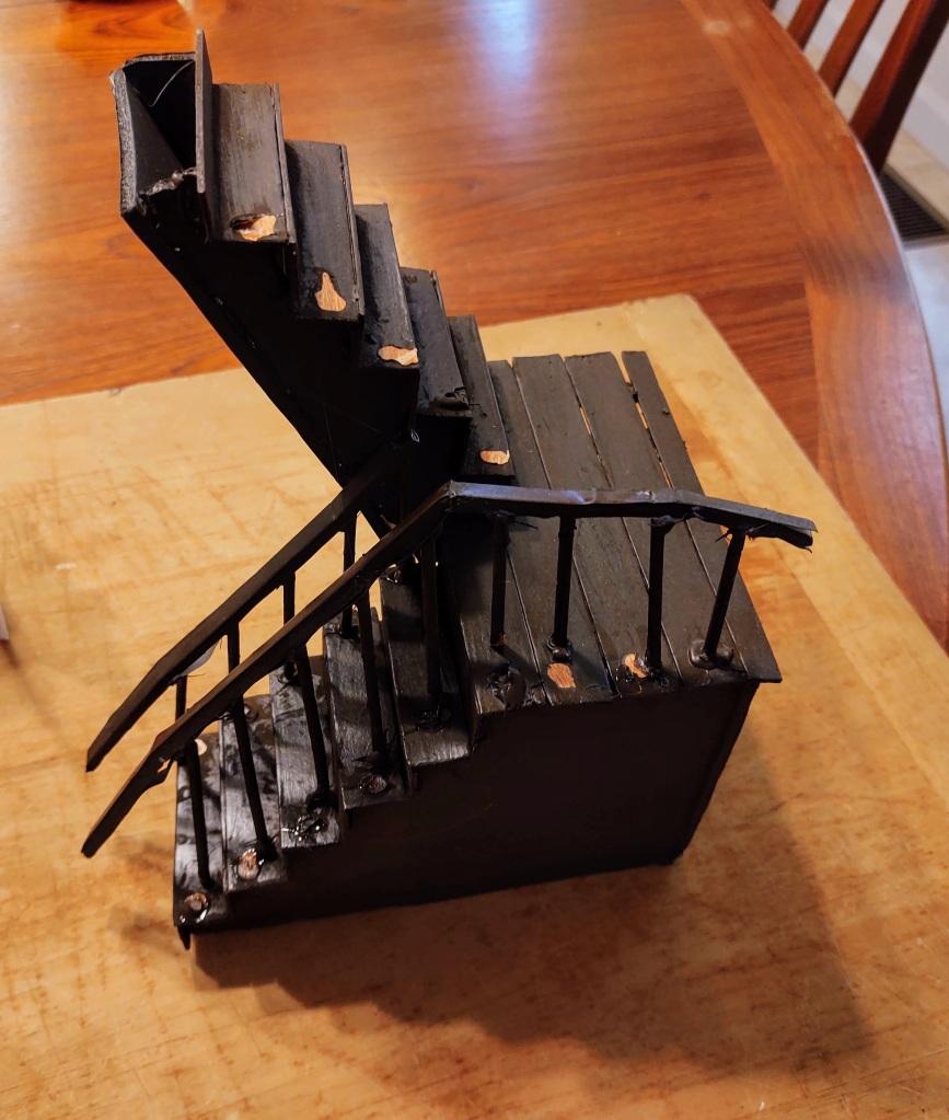 Dollhouse staircase falling apart
