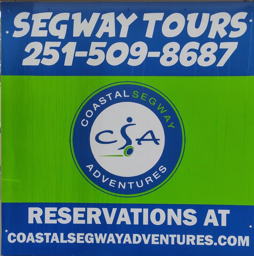 Segway Tours sign.