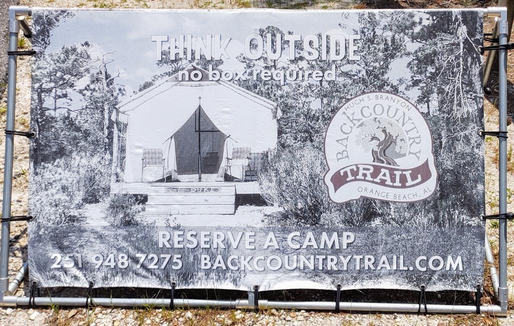 Backcountry Trail Reserve a campsite 251 948 7275 http://www.Backcountrytrail.com