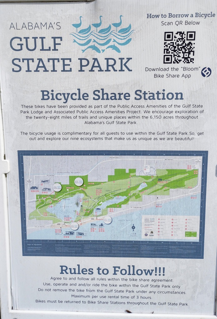 Info about the Gulf State Park Bicycle Share program.