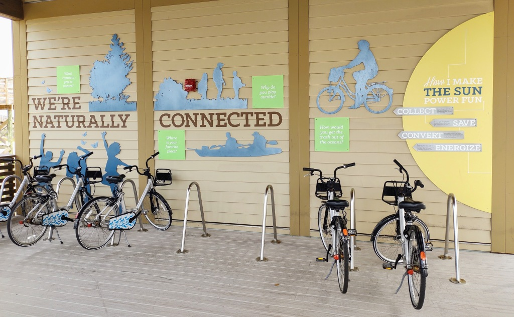 Bicycle Share Station at the Interpretive Center.