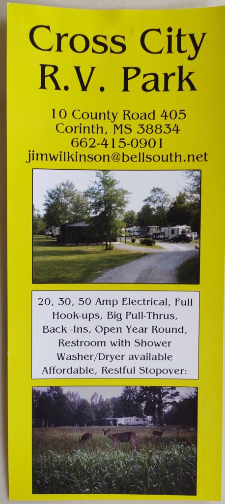 Brochure for Cross City R.V. Park