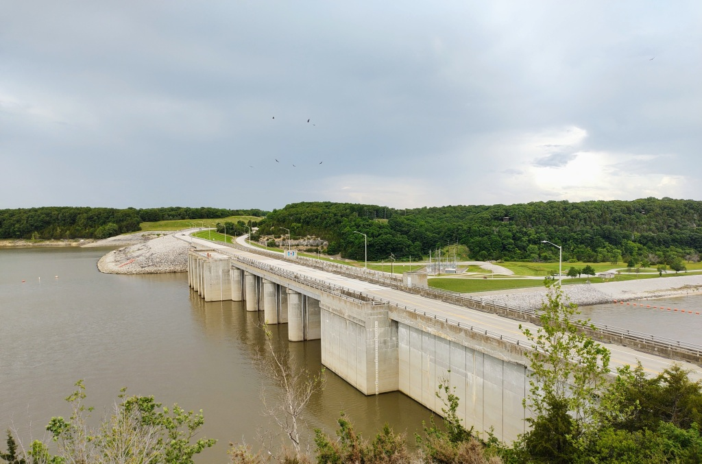 Lookout over Clarence Cannon Dam and Mark Twain Lake