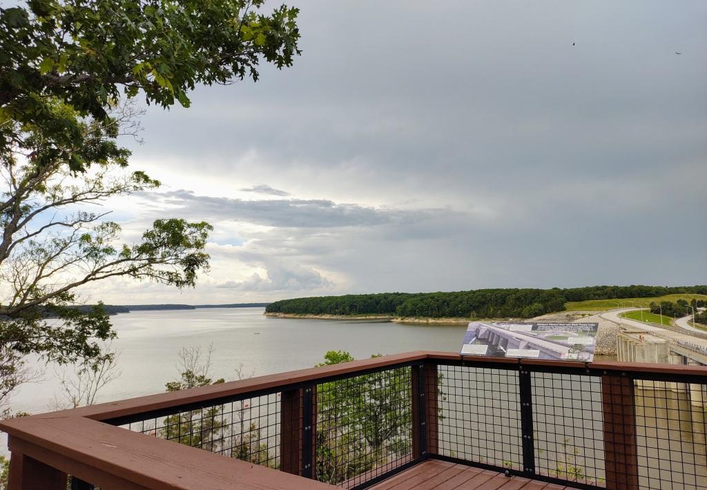 Lookout over Mark Twain Lake.