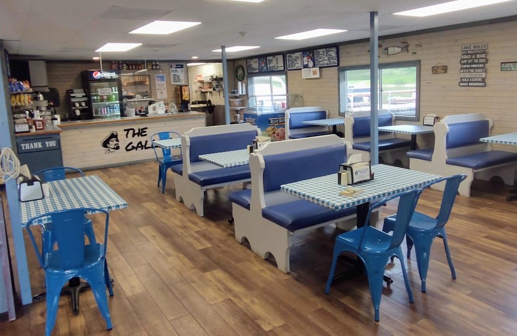 Indoor view of The Galley restaurant.