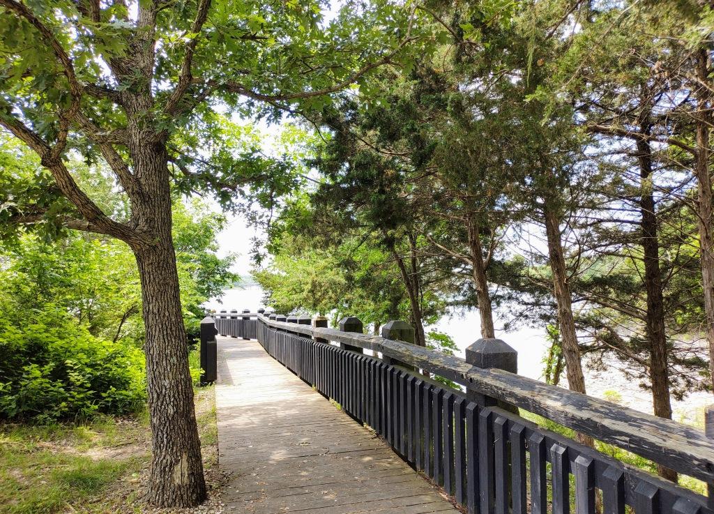 Clara's Point walkway.