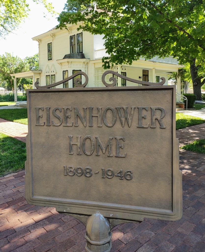 Eisenhower home sign.