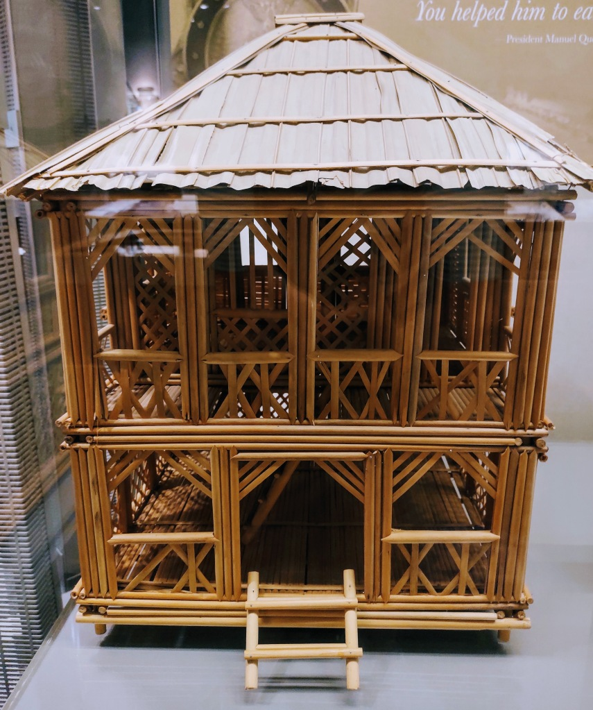 Bamboo house model.