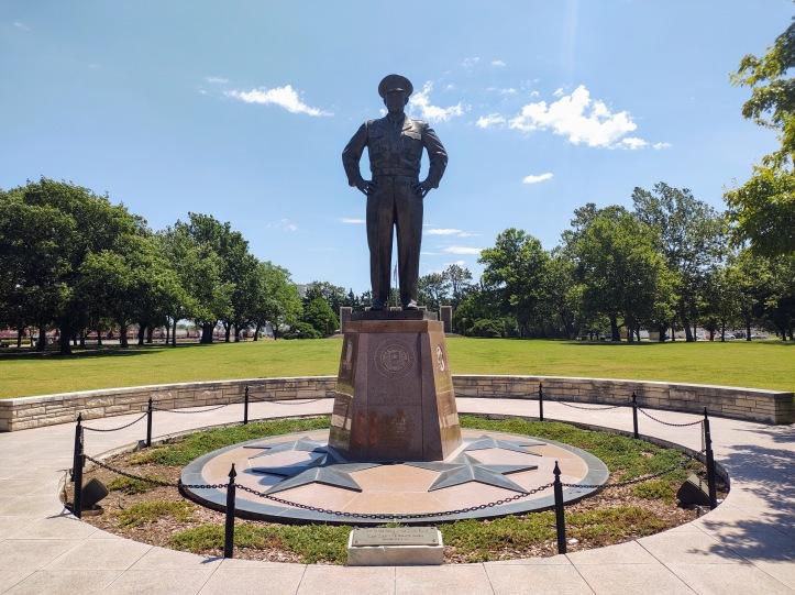 Eisenhower statue.