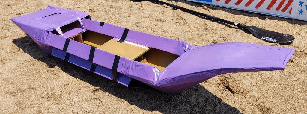 Purple kayak.