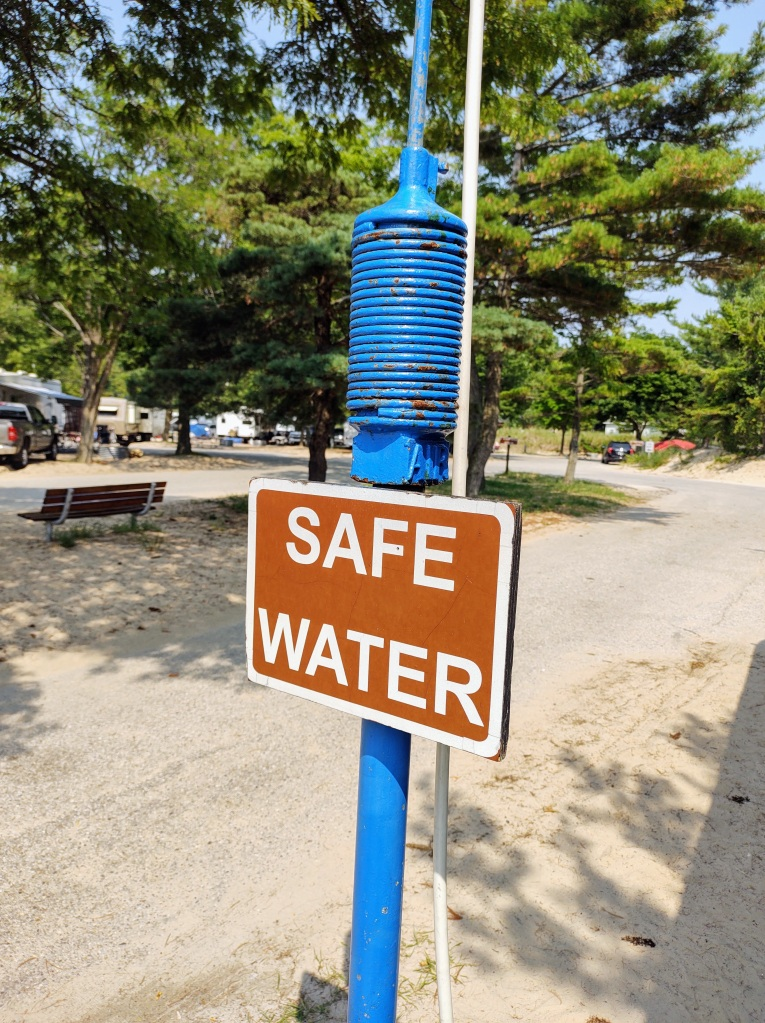 Potable water at campground dump station.
