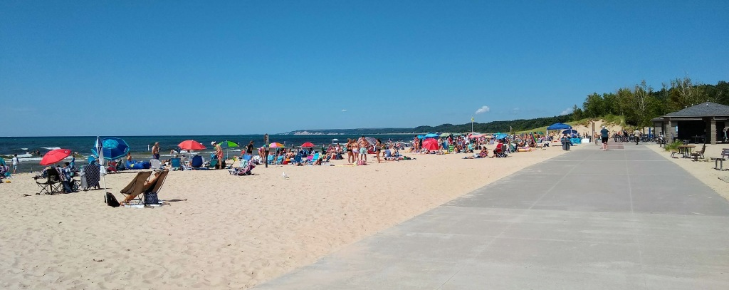 View of Beach in Pentwater.