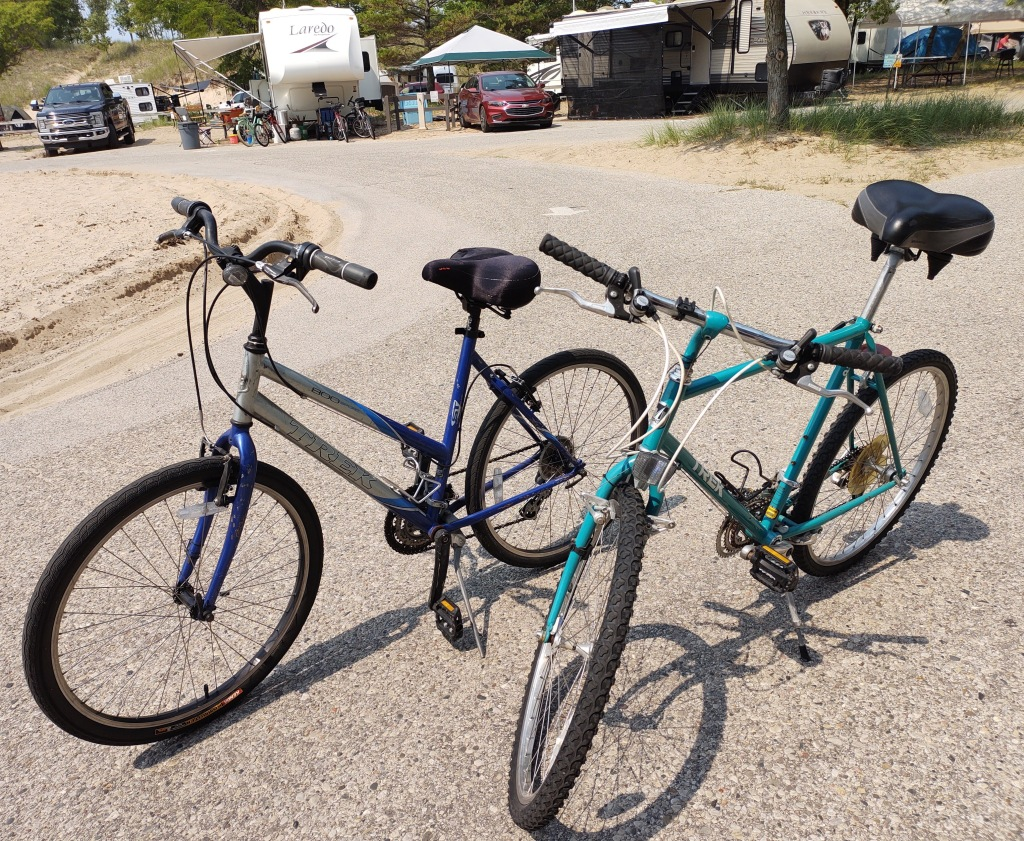 Betty and Dan's old bikes.