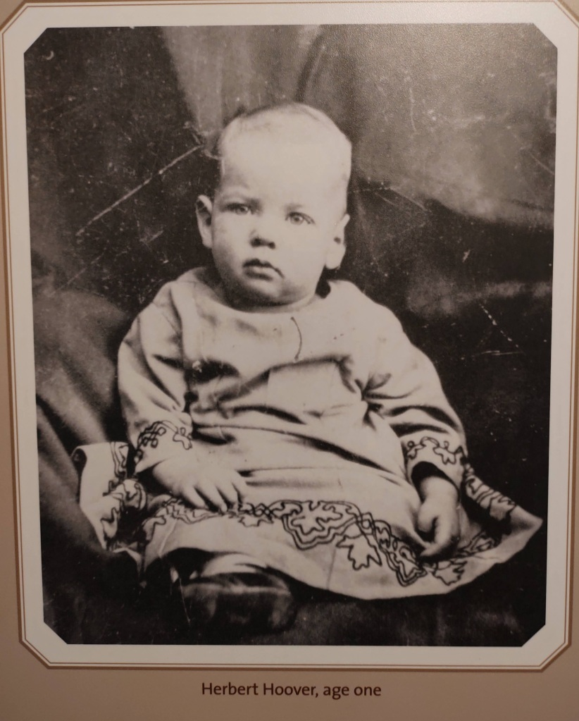 Picture of Herbert Hoover at the age of one.