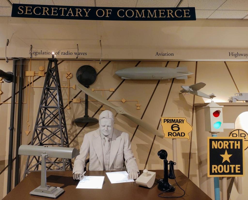 Depiction of Herbert Hoover as Secretary of Commerce.
