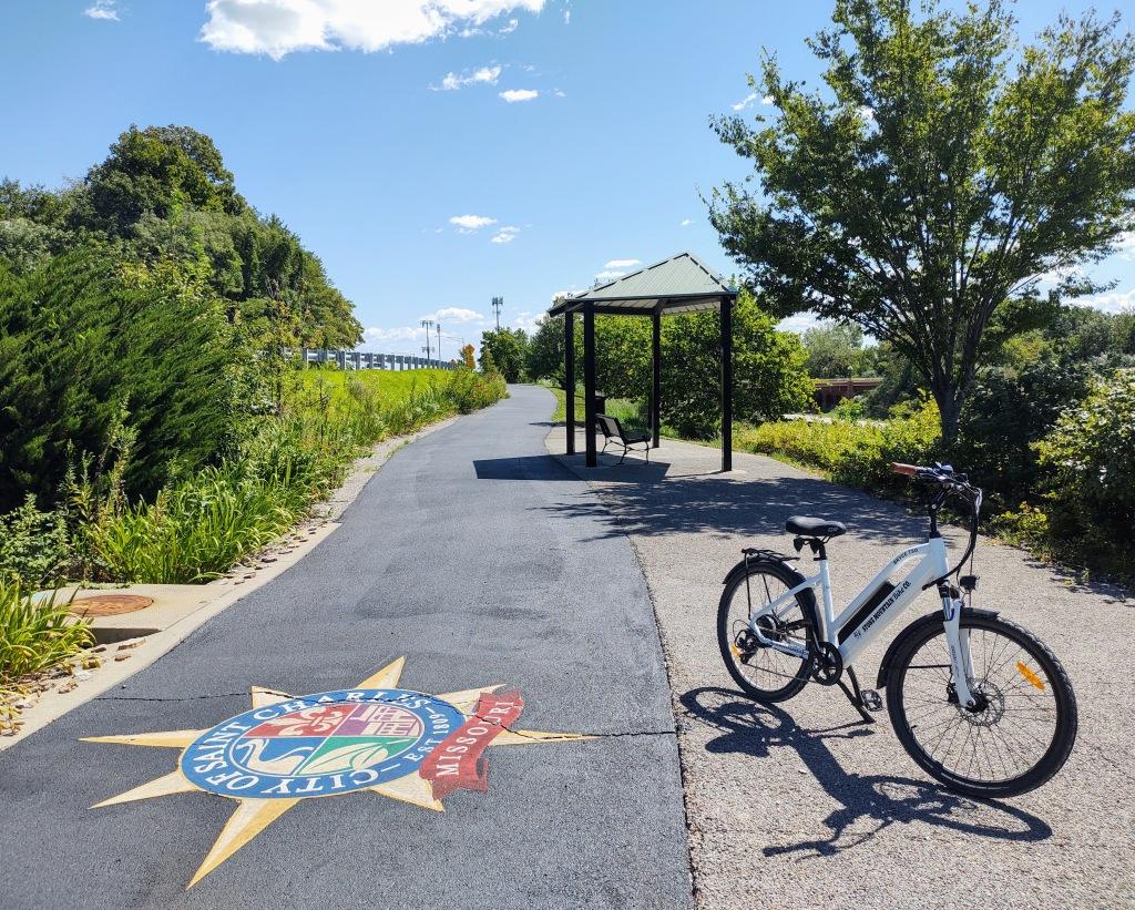 Bike trail in St. Charles, Mo.